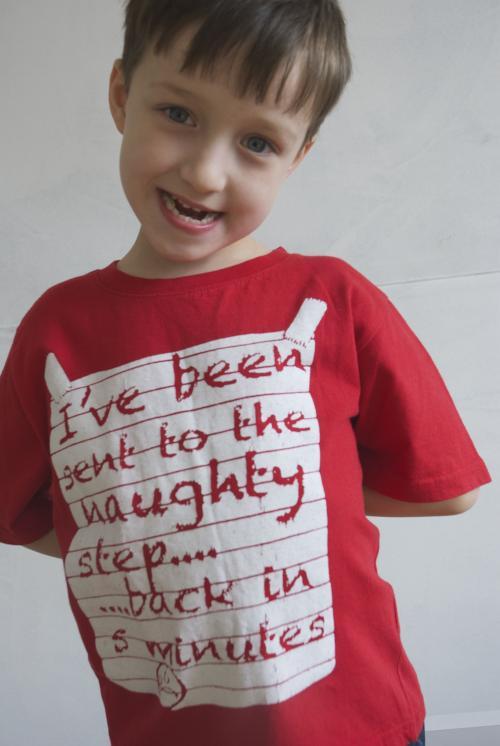 002 GSV- boys CLUB clothing - Red Rebel  - T -shirt-  Naughty step  Image
