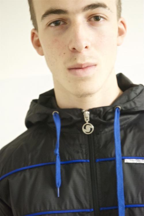 002GSV-M-S- Seventy Seven-Black-Blue-Jacket                               Image