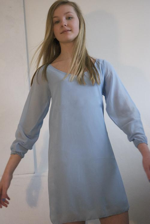 003GS - White Label- Pale blue Tunic Top - Dress Image