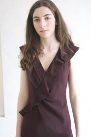 008GSV-VAMP- Aubergine -Brown- Betty Jackson-Rufell-Dress Image