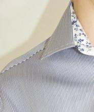 012GSV-Mens-Work-Steel and jelly-Shirt-Blue stripe-Blue floral band       Image