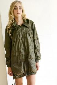 Coat - Size 14 Military - Styling - Khaki Green - MOD Coat - Three quarter - GLAM shop - Vintage 008GSV Image