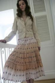 017GSV-Military -Damart - Pink  Layer skirt - long skirt Image