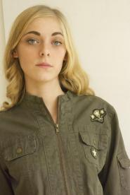 Urban Behavior - size  - 14 - Jacket -Military - Khaki - Jacket - Stars on pocket - GLAM shop - Vintage 009GSV Image