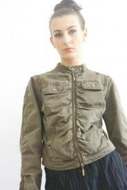 Alibi - Jacket - Size 12 -  Military - Kharki - Green - Bomber Jacket - Military - GLAM shop - Vintage - 006GSV                               Image