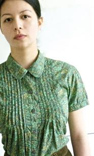 001GSV-Country Casuals -Green Floral shirt  Image