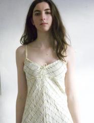 010GSV-Fun-Yellow-Shoe string strap dress Image