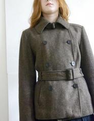 Zara - Size 12 - 14 -  Jacket - Coat - Warm - Brown - Tweed - Three quarter -  - Military Collection - Women,Lady,Ladies,Girls,011GSV Image