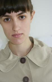 022GSV -Papaya -Beige- Three quarter coat - Cute Neck line - Button detail to the front Image