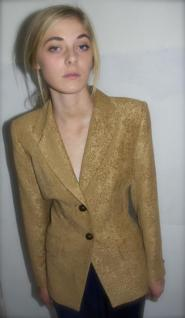 Jacket - Size 10 - Jacket - Gold coloured - Tapestry pattern - GLAM shop Vintage Classic - Collection  014GSV Image