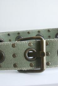 004  GsVMil Khaki Green Military style - Belt  Image
