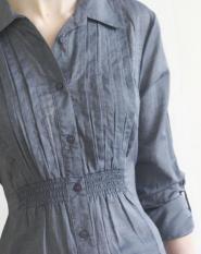 023GSV -Work -Papaya-ladies-Long sleeve- Deep Blue -Blouse  Image