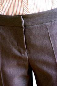 Brown - Trousers - Petite - size 8 - short - Slight glimmer giving a very rich colour  Work - GLAM shop - Vintage 005GSV Image