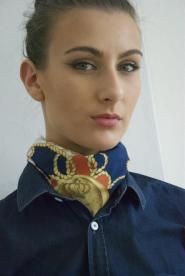 Llung  - Denim  -Shirt  size 8 - 10  -Ladies  -Blue - Classic - Collection 004GSV Image