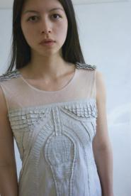 021GSV -DRESS -Pale Grey - Niza - 3d effect pattern  Image