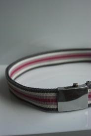 001GSV-BELTS-Candy Stripe- Pink-Belt -Silver clip                     Image