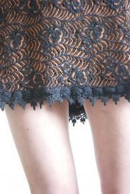 001GS Deconstruction Range - Orange and Black gothic dress  Image