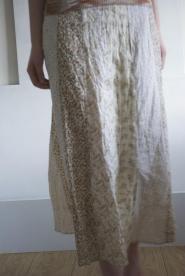011GSV-FREE-Long -cream -Skirt -Hippy style -Flower patteren Image
