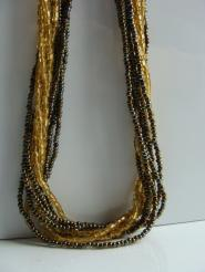 004GSV-JEW-Pewter-Gold- Necklace  Image