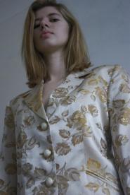 016GSV-Classic-Designer- Selfridges -Gold shimmer-Rose -Jacket  Image