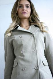 Cherokee - Size  - 12 -  Coat - Beige -  Double breasted - Brushed Cotten  - GLAM shop Vintage -  Classic Collection - 015GSV Image