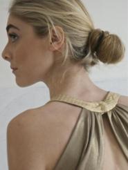 014GSV-Dress -Gold -Mock sequin - Label Morgan Image