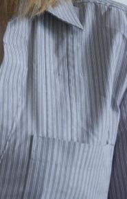 013GSV-Work-Next-Grey-long sleeve shirt-white and black stripe  Image
