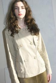 John Rocha Size 12 - Jacket - Coat - Beige -Three quarter Jacket - Lined  -  GLAM shop Vintage  - Classic Collection 019GSV Image