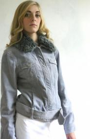 Principals Lilac - Purple - Jacket - Size 10 -Corded  - fabric - Fake fur collar - Classic Collection - GLAM shop - Vintage 012GSV Image