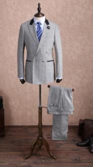 MENS - Made to Measure - Suit  - Grey   - GLAM shop 004GS Image