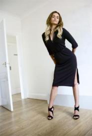 Principles - Size 8 - 10  - Dress - Chocolate - Brown - GLAM shop Vintage - Work Collection -  012GSV Image