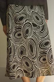 Hobbs - Size 12 - Skirt - Long - Brown and Cream - Chocolate Brown  - Classic Collections - GLAM shop - Vintage  011GSV Image