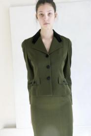 019GsVMil-Joseph-Skirt suit-Bottle green  Image