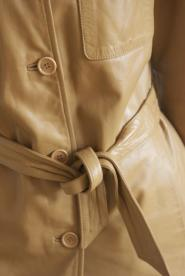 017GSV-Classic-Tan Leather - Three quarter -  Benetton Jacket  Image